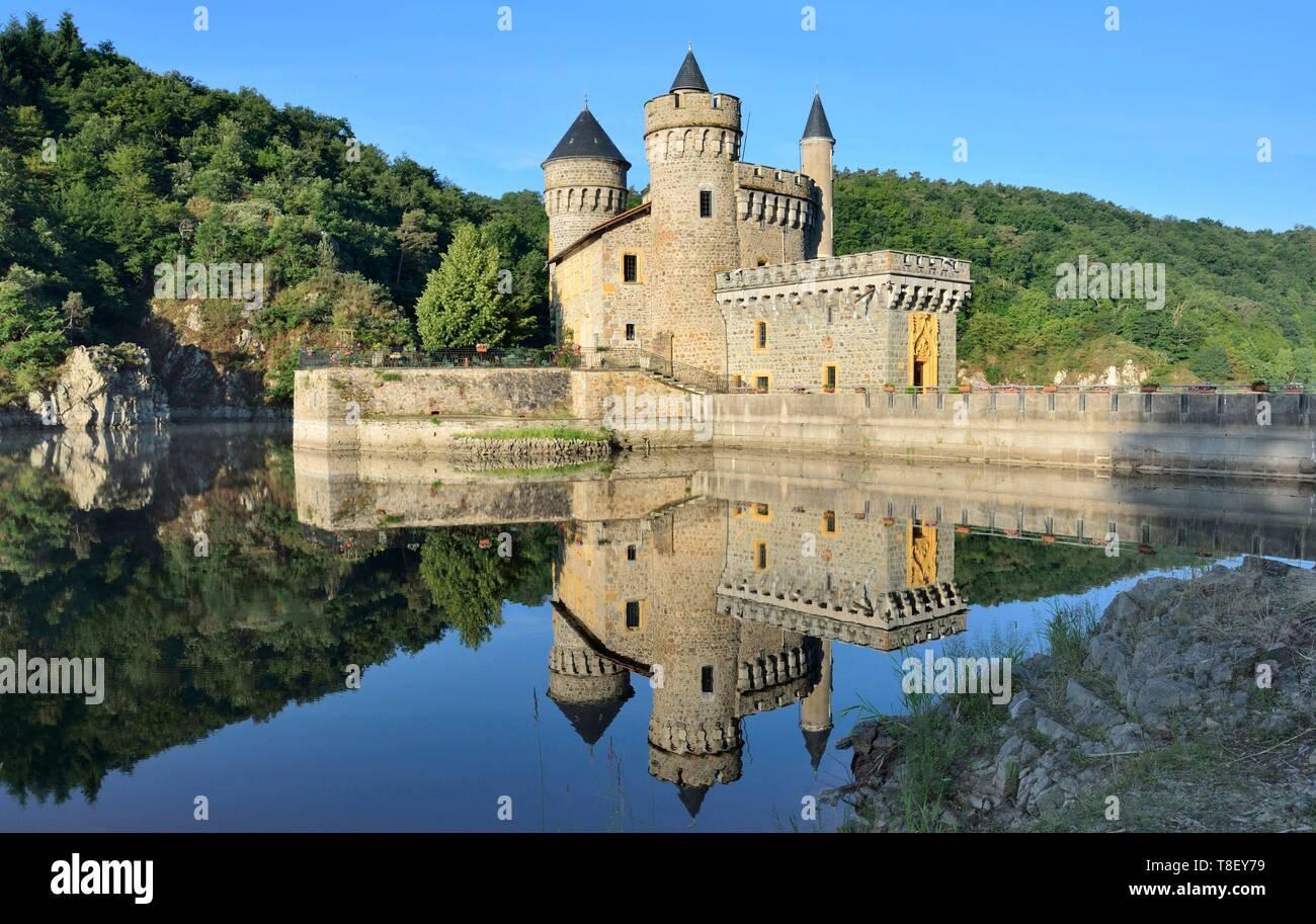 https www alamy com france loire saint priest la roche the castle and the loire river image246191101 html