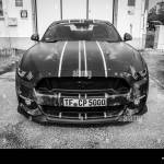 Berlin April 27 2019 Pony Car Ford Mustang Gt500 2015 Black And White Stock Photo Alamy