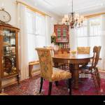 Oval Oak Wood Dining Table With Press Back Chairs Wood With
