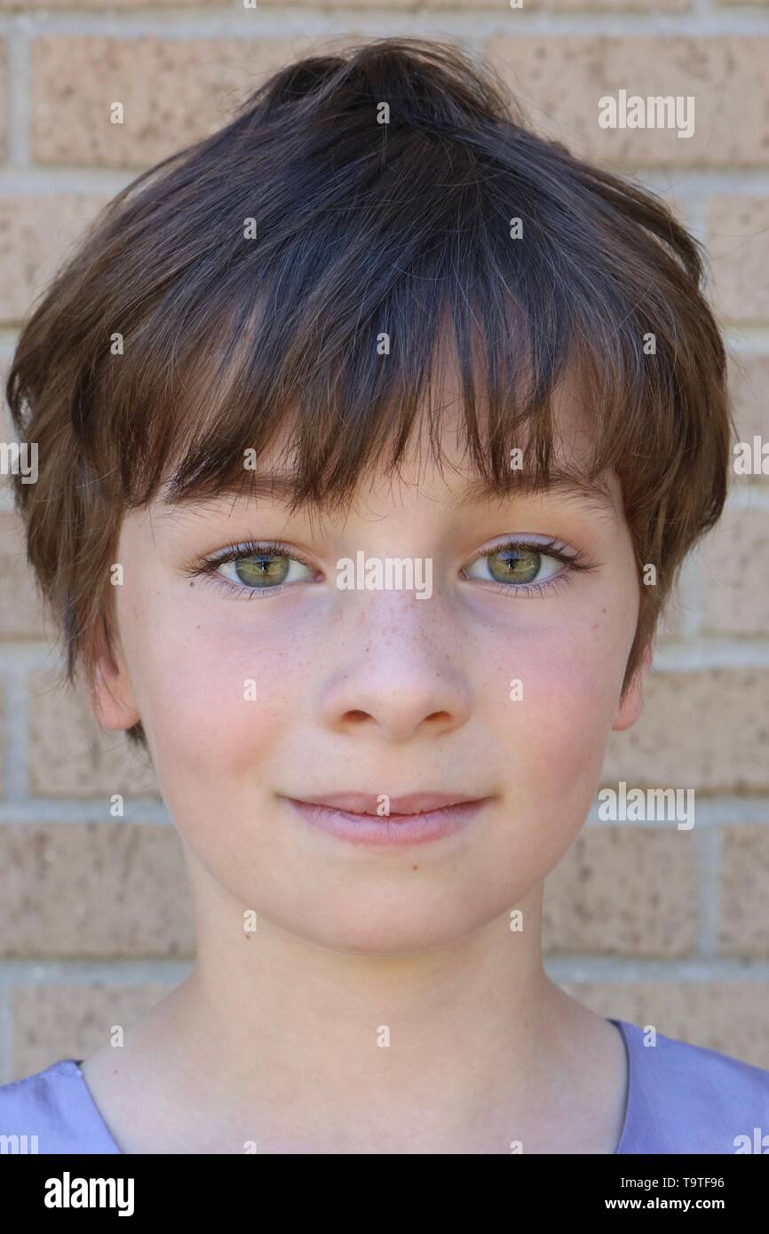 Cute Boy Big Brown Eyes High Resolution Stock Photography And Images Alamy