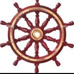 Vector Boat Handwheel Ship Wheel Helm Sea Ocean Symbol Stock Vector Image Art Alamy