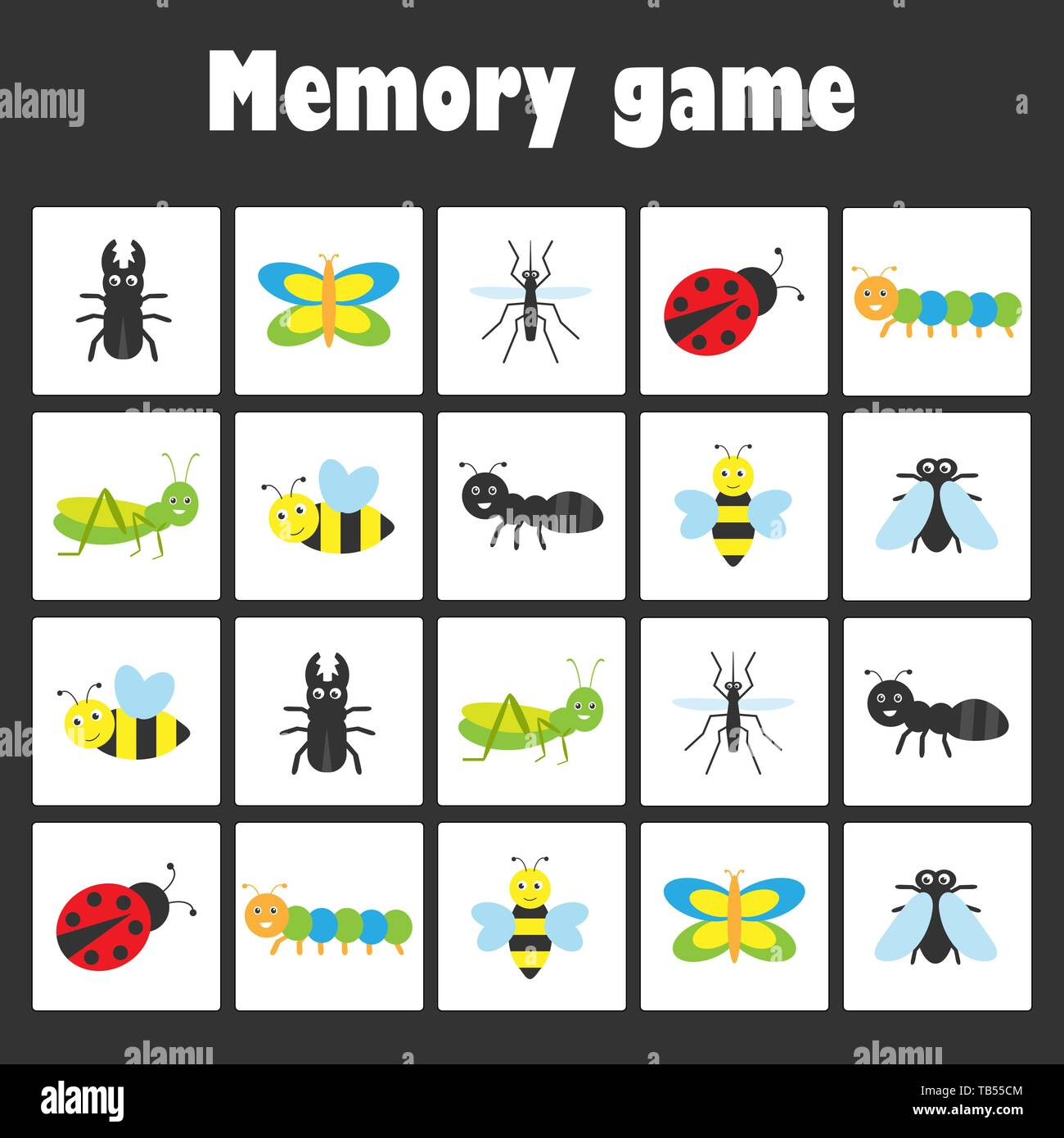Memory Game Children Stock Photos Amp Memory Game Children Stock Images