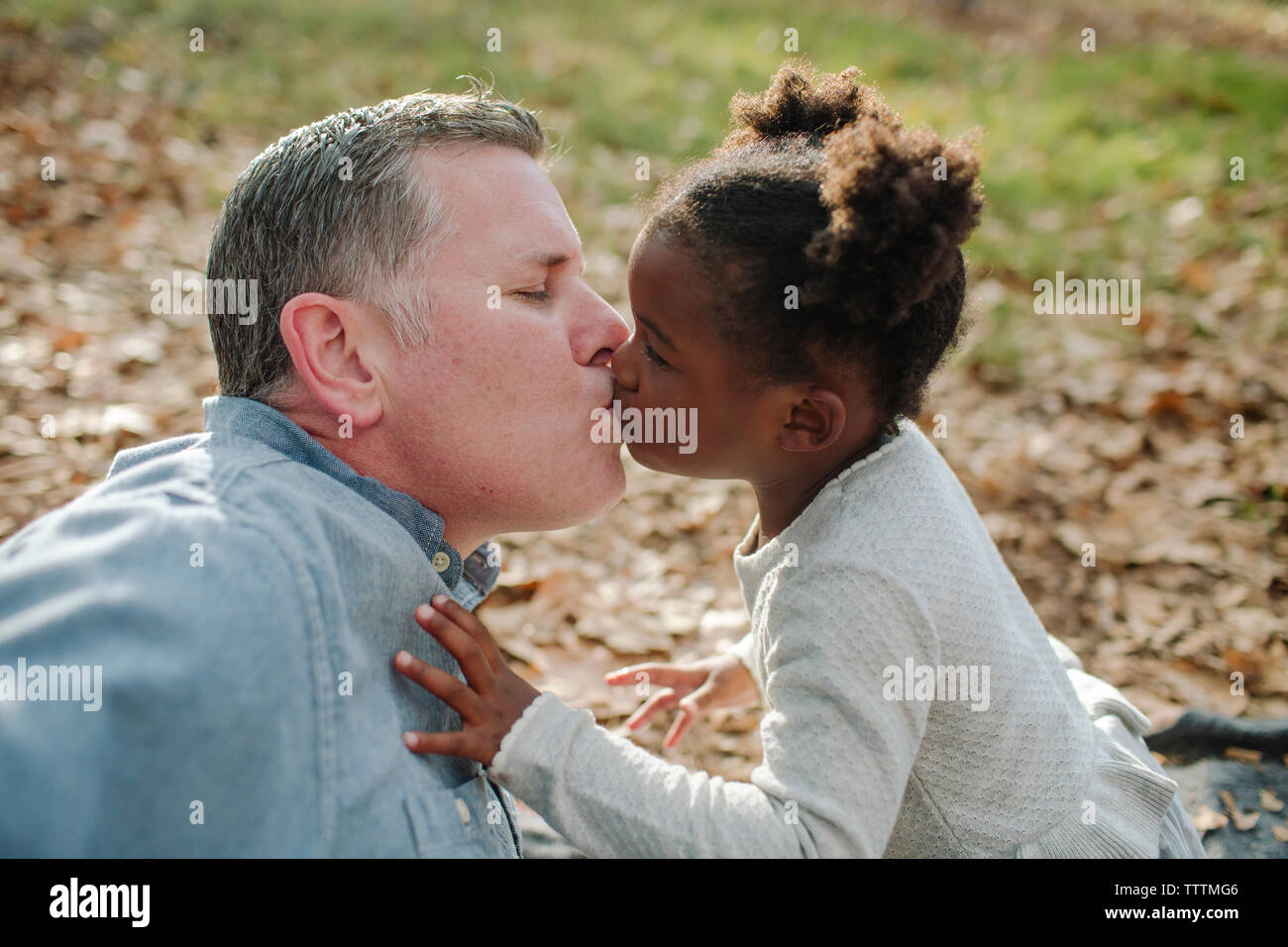 Father Kissing Adult Daughter High Resolution Stock Photography And Images Alamy