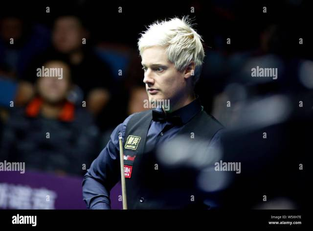 neil robertson of australia considers a shot to mark selby