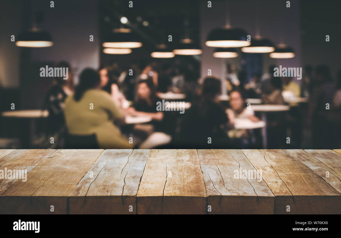 https www alamy com wood table top bar with blur people siting in cafe background lifestyle and celebration concepts ideas image262473736 html