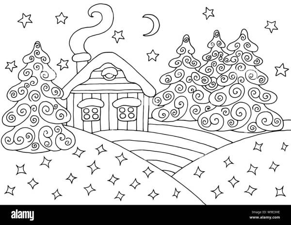 forest coloring page # 82