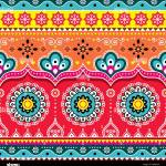 Pakistani Or Indian Truck Art Design Jingle Trucks Seamless Vector Pattern Colorful Floral Repetitive Decoration Stock Vector Image Art Alamy