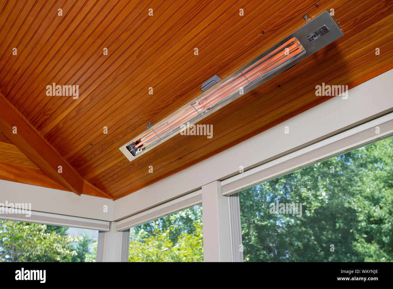 https www alamy com infrared heating in a screened in porch climate controlled outdoor living space image264911766 html