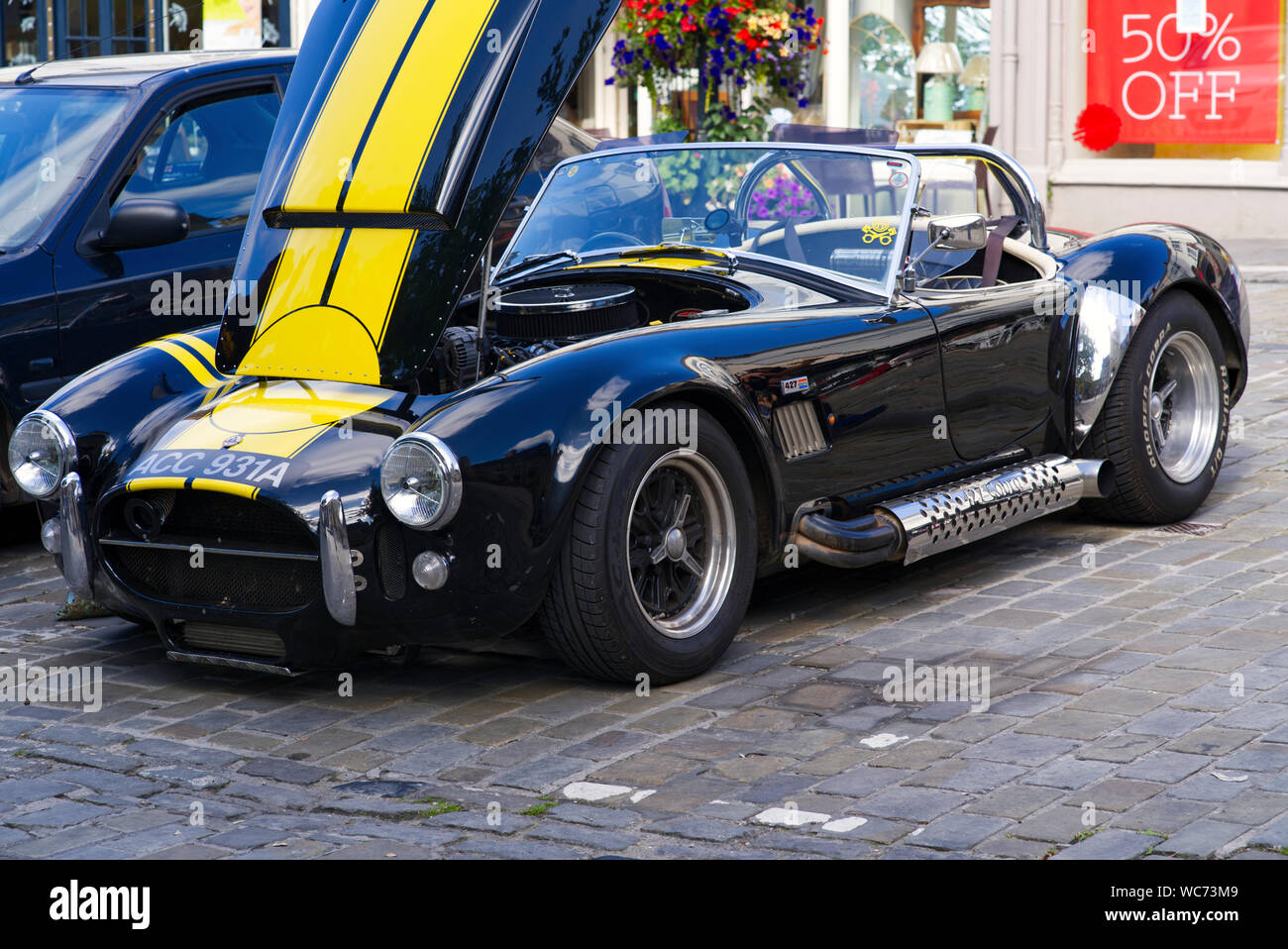https www alamy com ac cobra replica dax 2009 with the with hood open parked image265687977 html