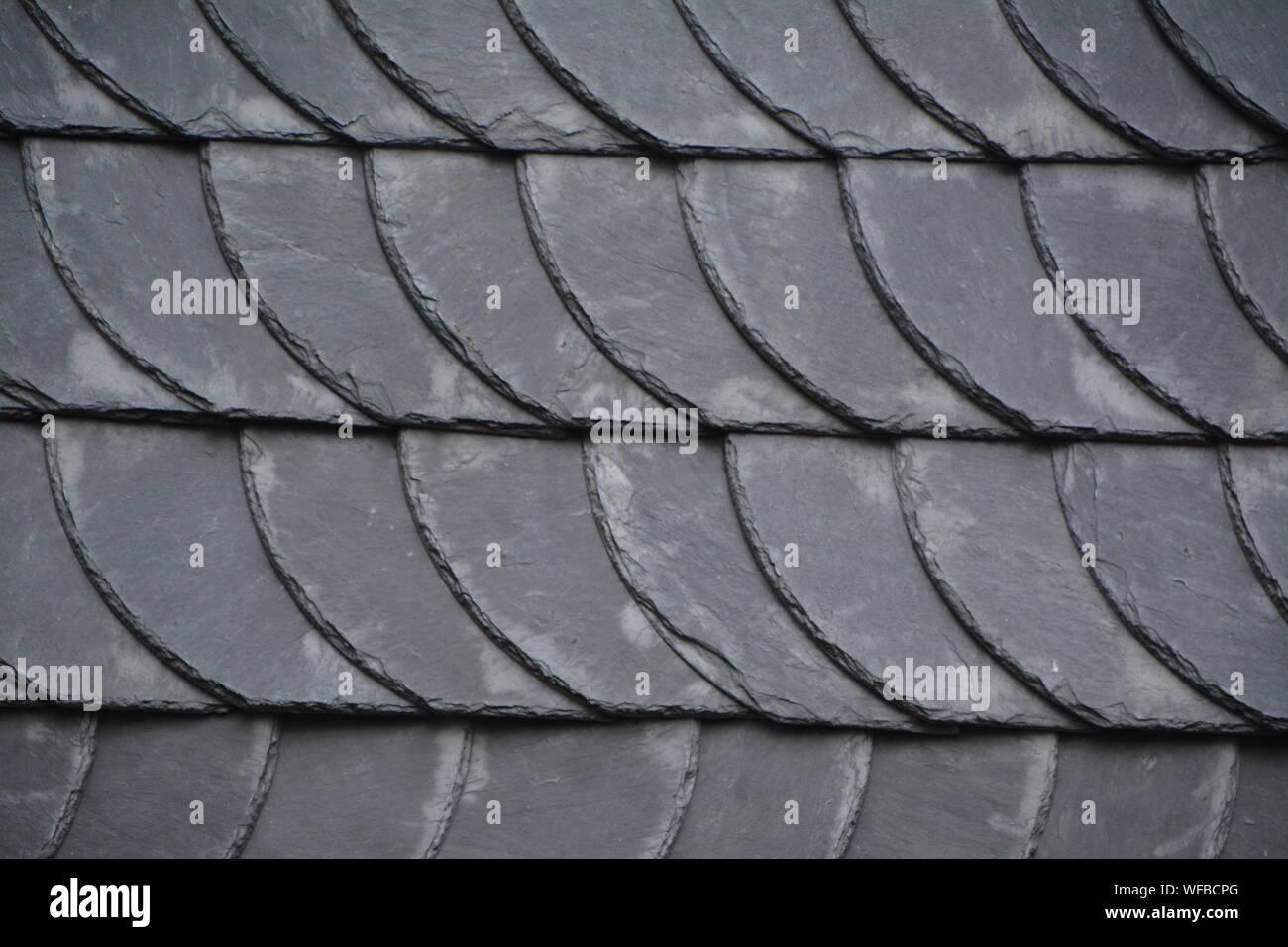 https www alamy com full frame shot of concrete roof tiles image267626872 html