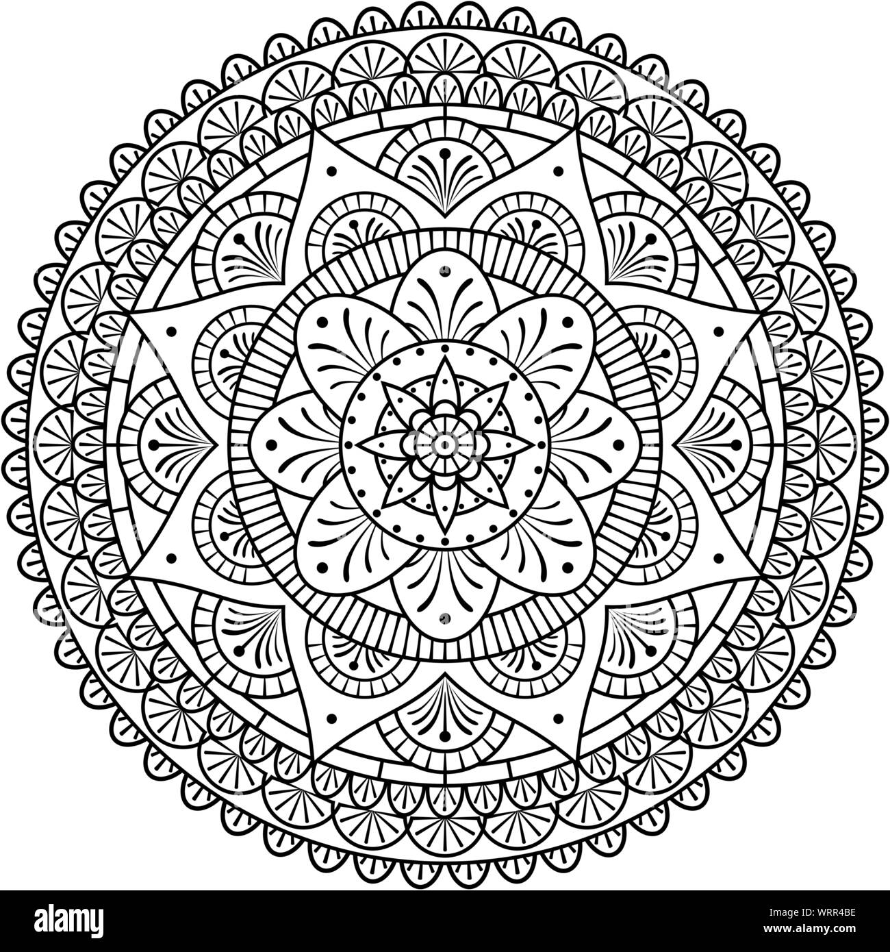 Vector Mandala Art For Coloring With Abstract And