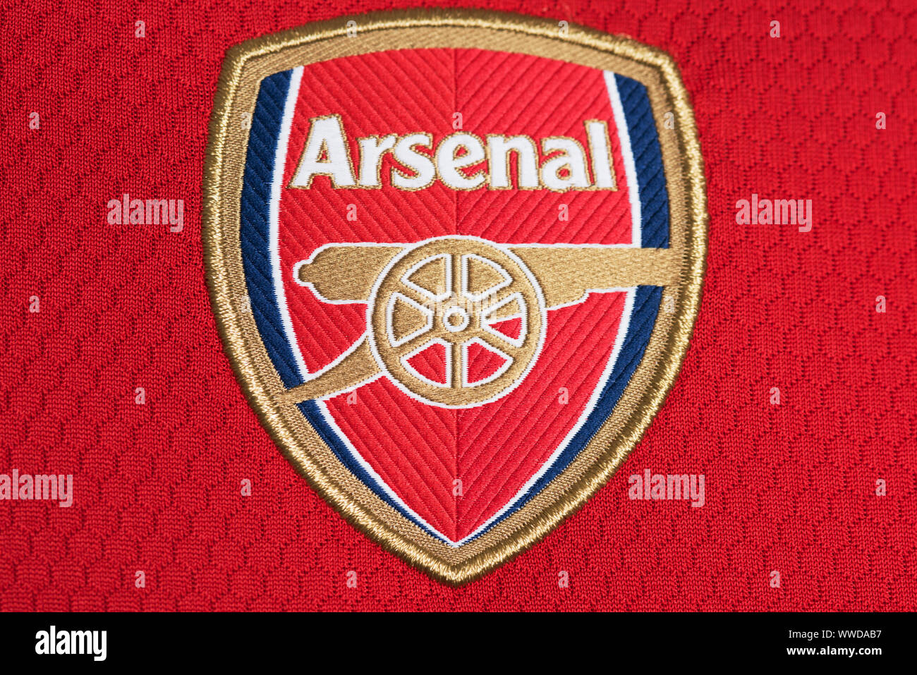 https www alamy com close up of arsenal x adidas 1920 home image273815451 html