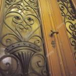 Front Door Woodwork Glass Wrought Iron Detail Front Door Input Range Brass Grip Door Handle Door Lock Door Sealed To Stock Photo Alamy