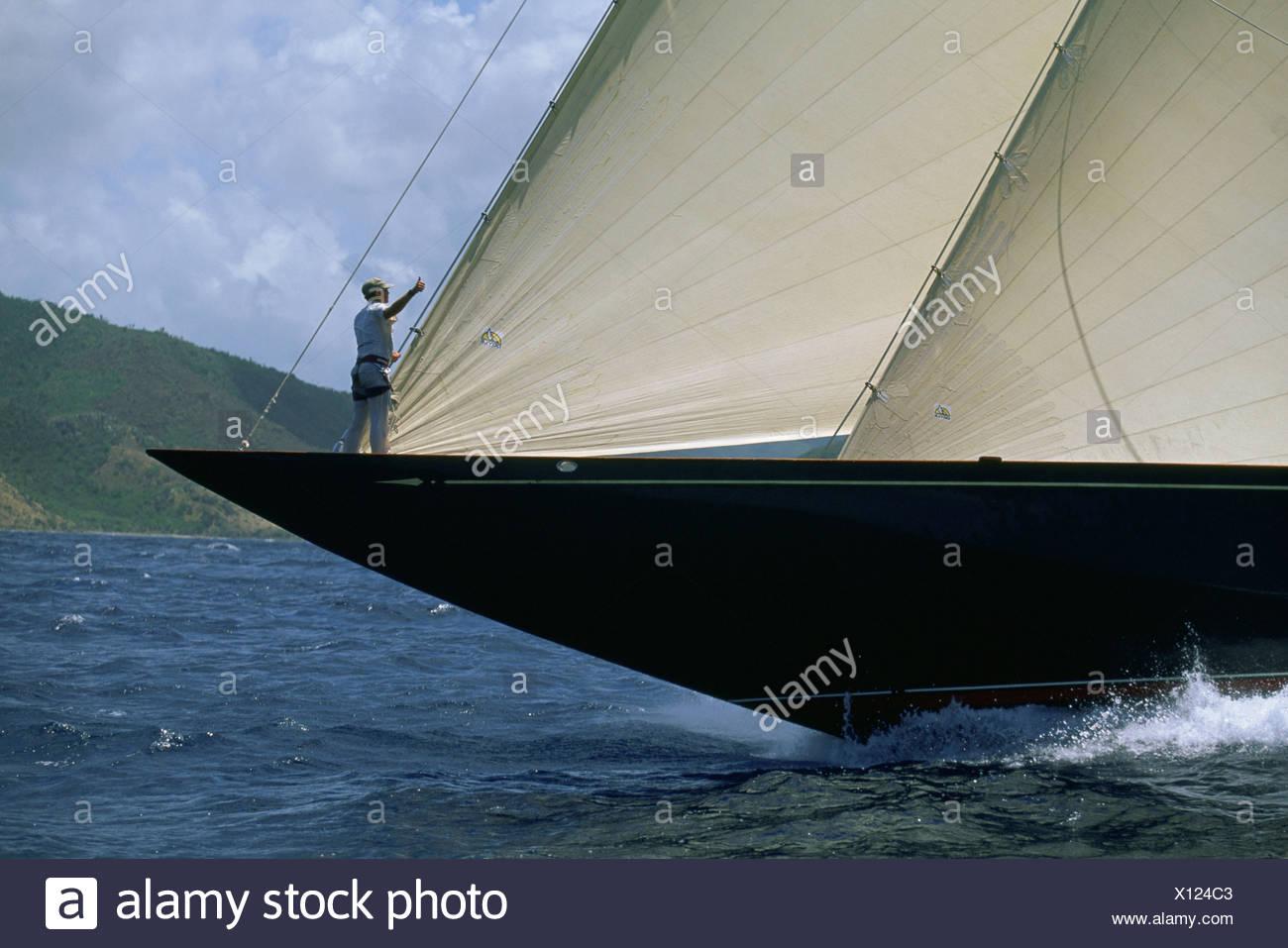 Yacht Racing Caribbean Stock Photos Amp Yacht Racing