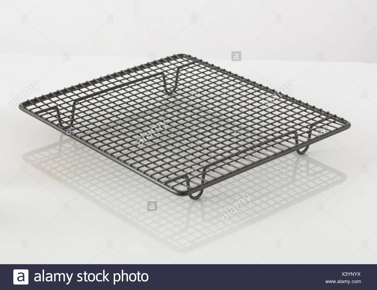 https www alamy com wire cooling rack for baking on white background image277819806 html