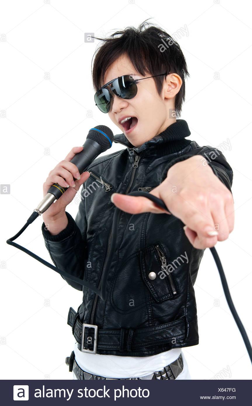 Female Rockstar Rock Roll Singer Stock Photos Amp Female
