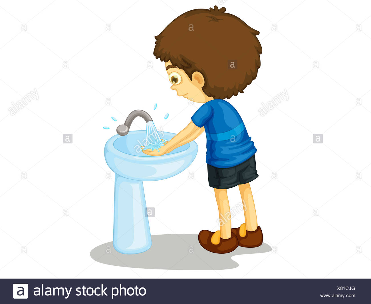 Boy Washing Hands At Sink Cut Out Stock Images Amp Pictures