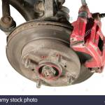 Old Brake Pads And Disk Isolated Stock Photo Alamy