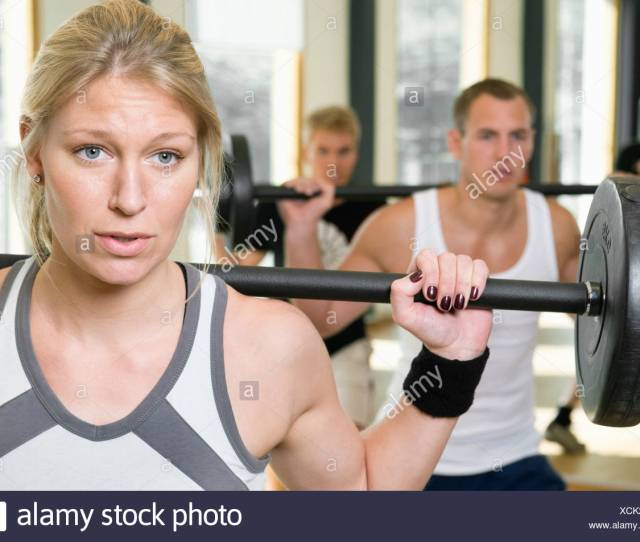 One Girl And Two Guys Working Out
