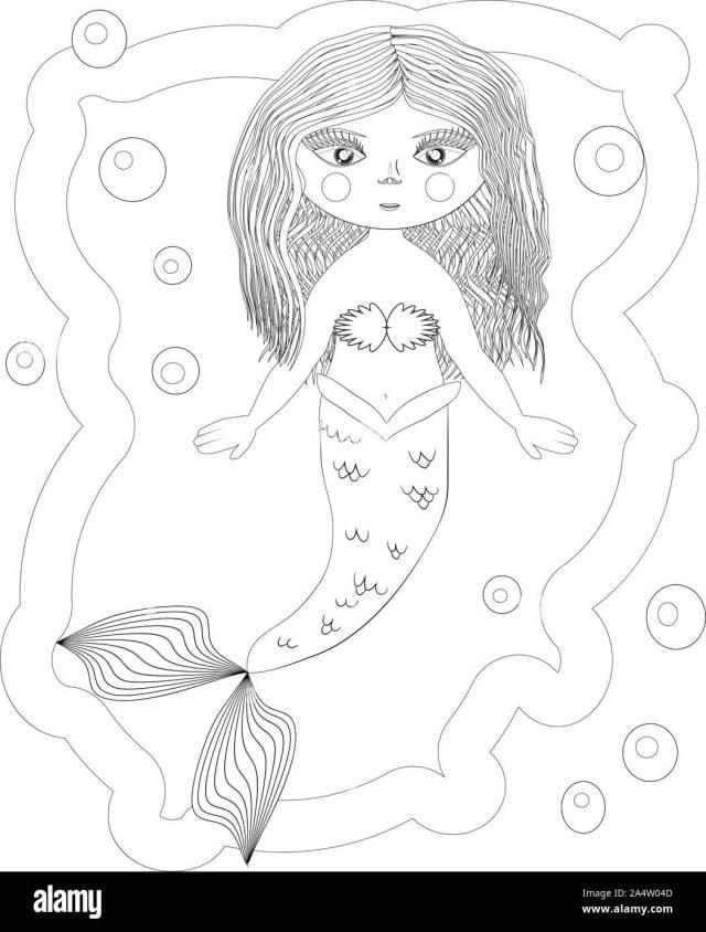 Malvorlage Meerjungfrau Stockfotos und -bilder Kaufen - Alamy
