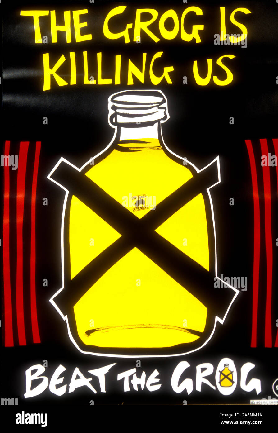 alcohol abuse poster stockfotos und
