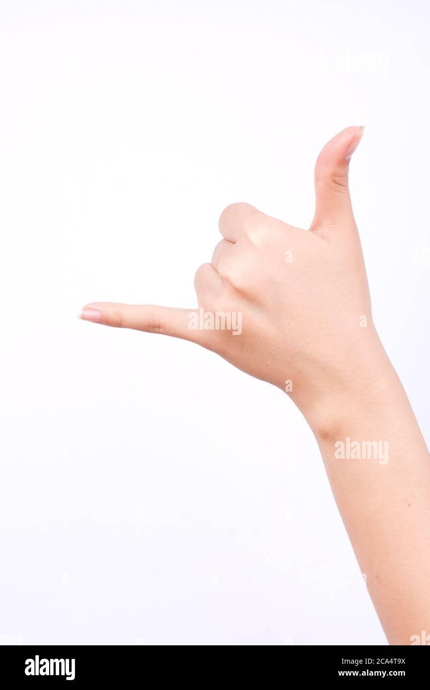 Hops Genommen Hand Zeichen . Shaka Symbol Stockfotos Und Bilder Kaufen Alamy