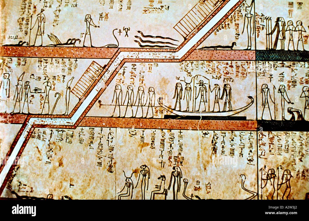 Welt Agypten Luxor Agyptische Malerei Im Tempel Der