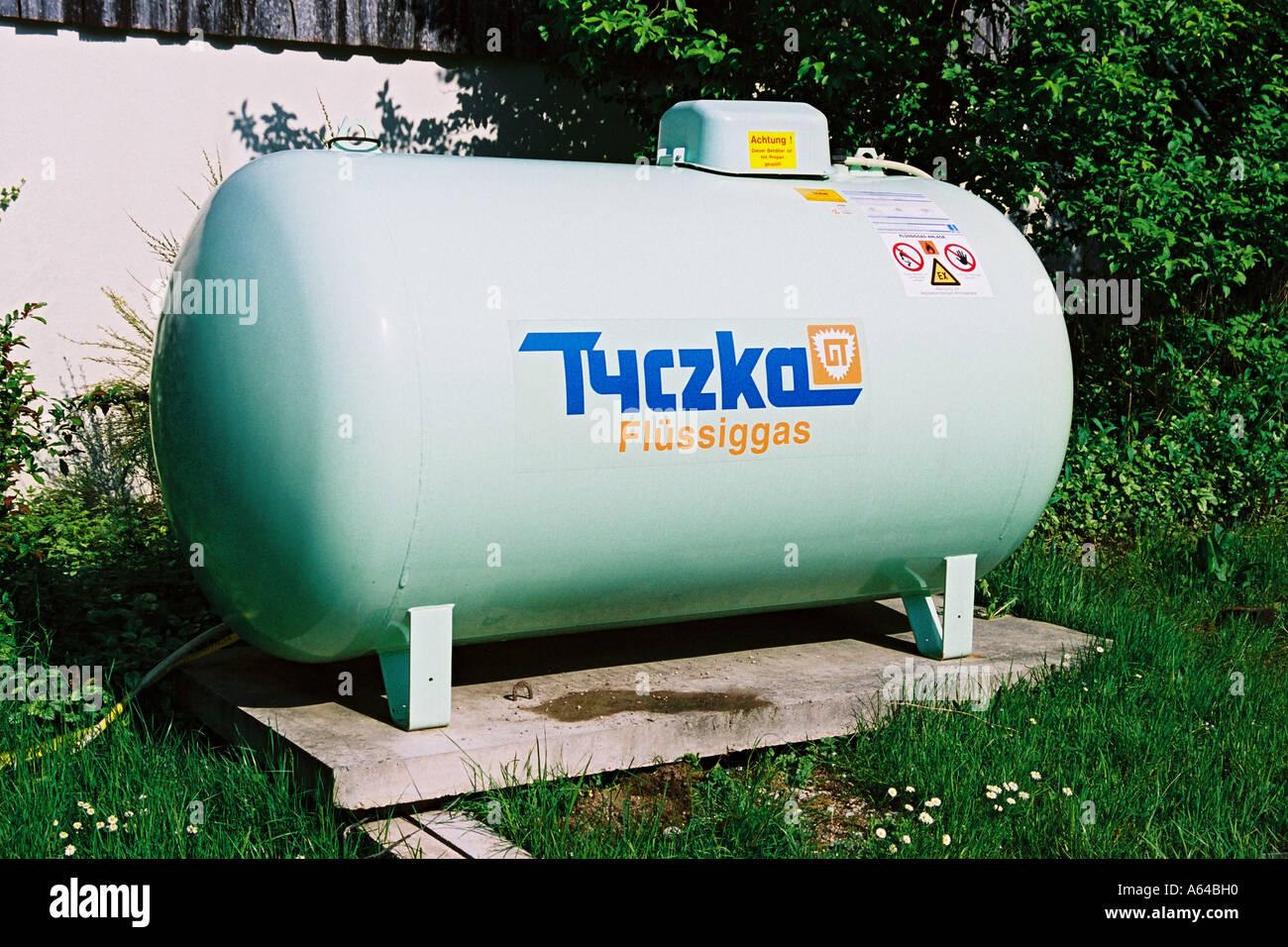 Flussiggas Tank Stockfoto Bild