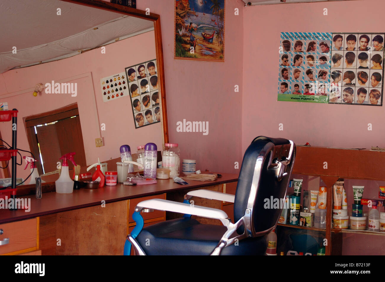 indian barber shop stockfotos und