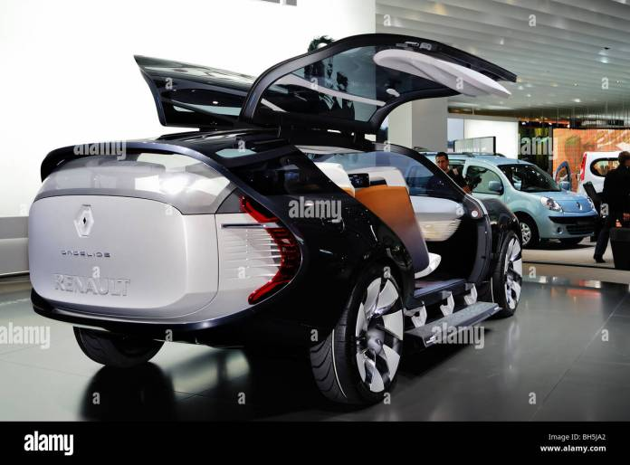 """paris, frankreich, """"paris auto show', elektromotor concept car"""