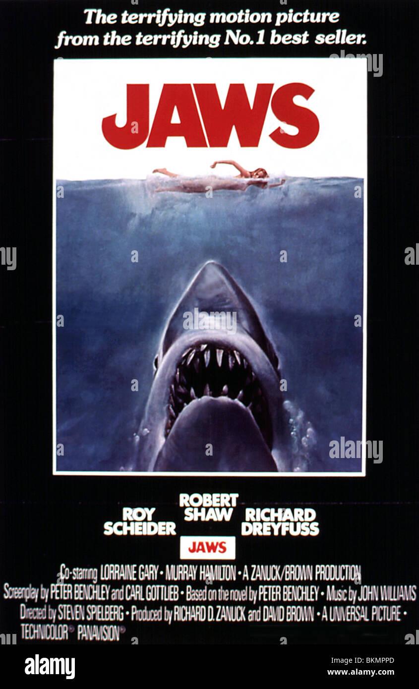 movie poster jaws stockfotos und
