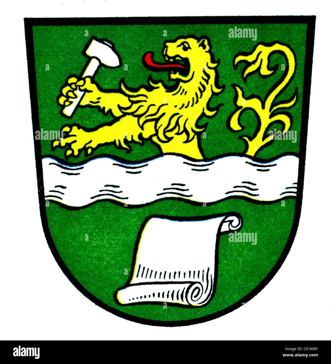 wappen embleme bergisch gladbach stadtwappen 1905 1977 zusatz rechteklarung nicht vorhanden stockfotografie alamy