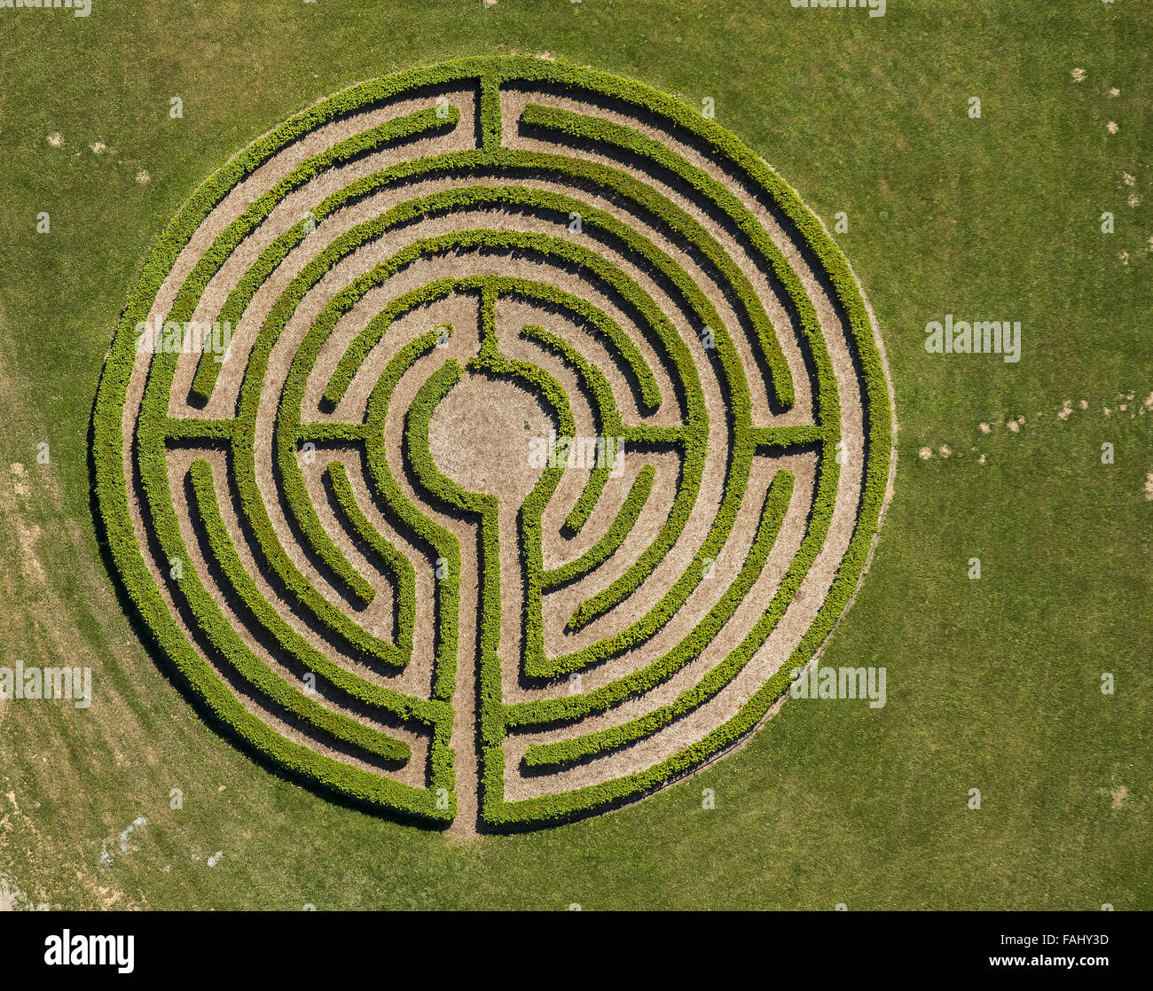 Luftbild Labyrinth Absicherung Irrgarten Labyrinth