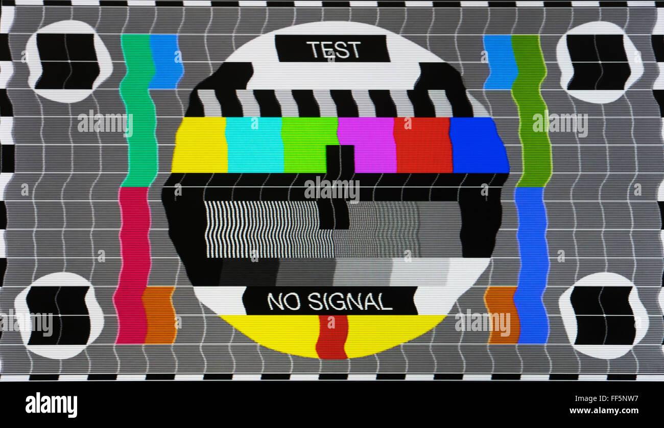 kein signal test tv bildschirm karte