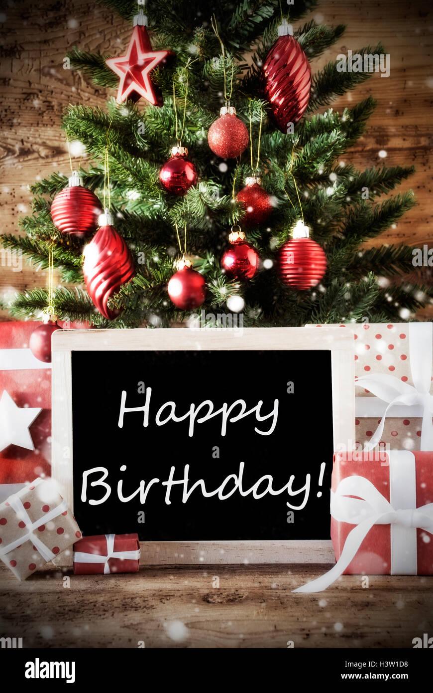 Nostalgic Christmas Tree Happy Birthday Stockfotos Und Bilder Kaufen Alamy