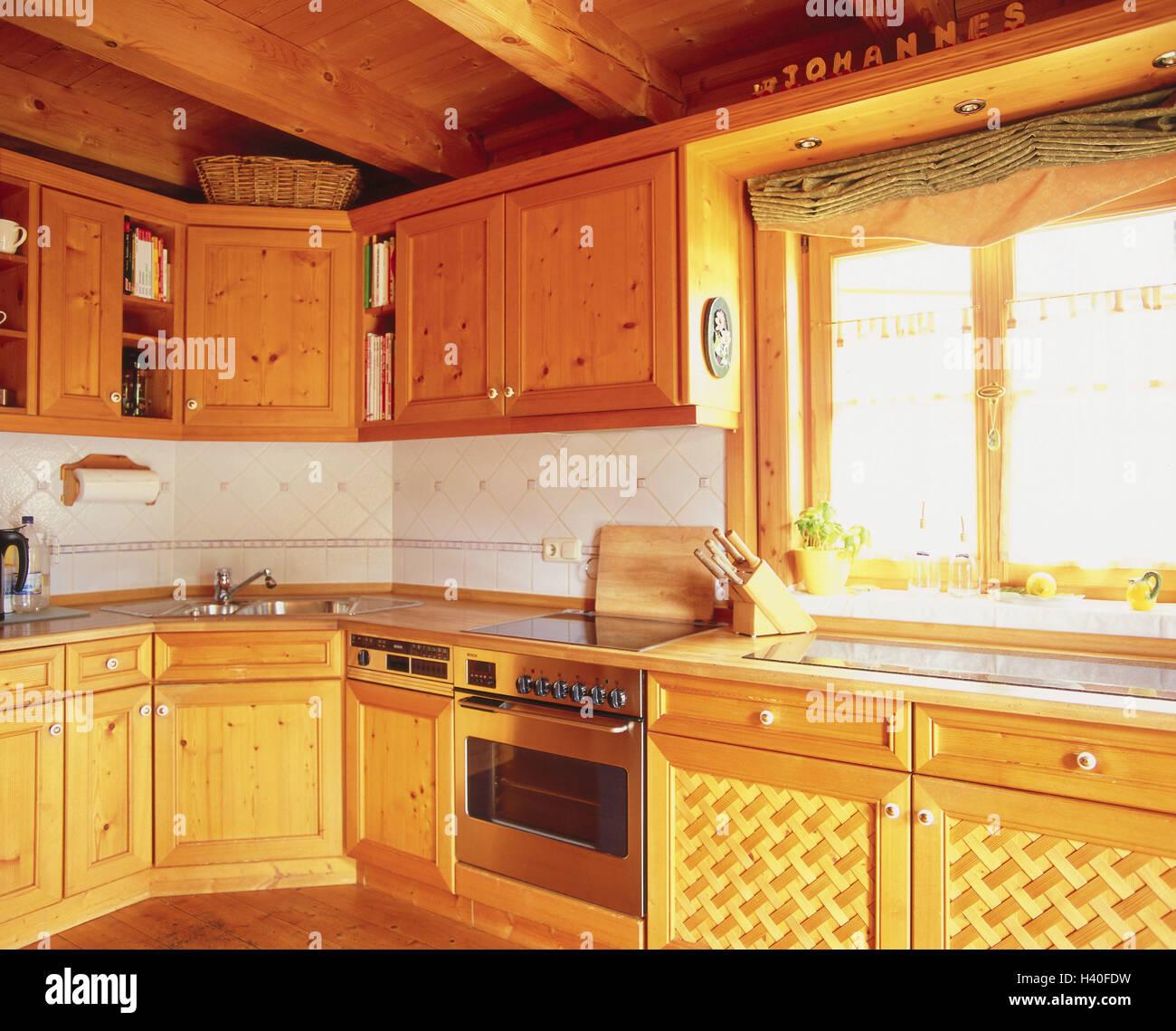 landliche kuche kuchenblock einbaukuche setup rustikal landlich holz landhaus stil wohn stil home dekor innen inneneinrichtung gschranke