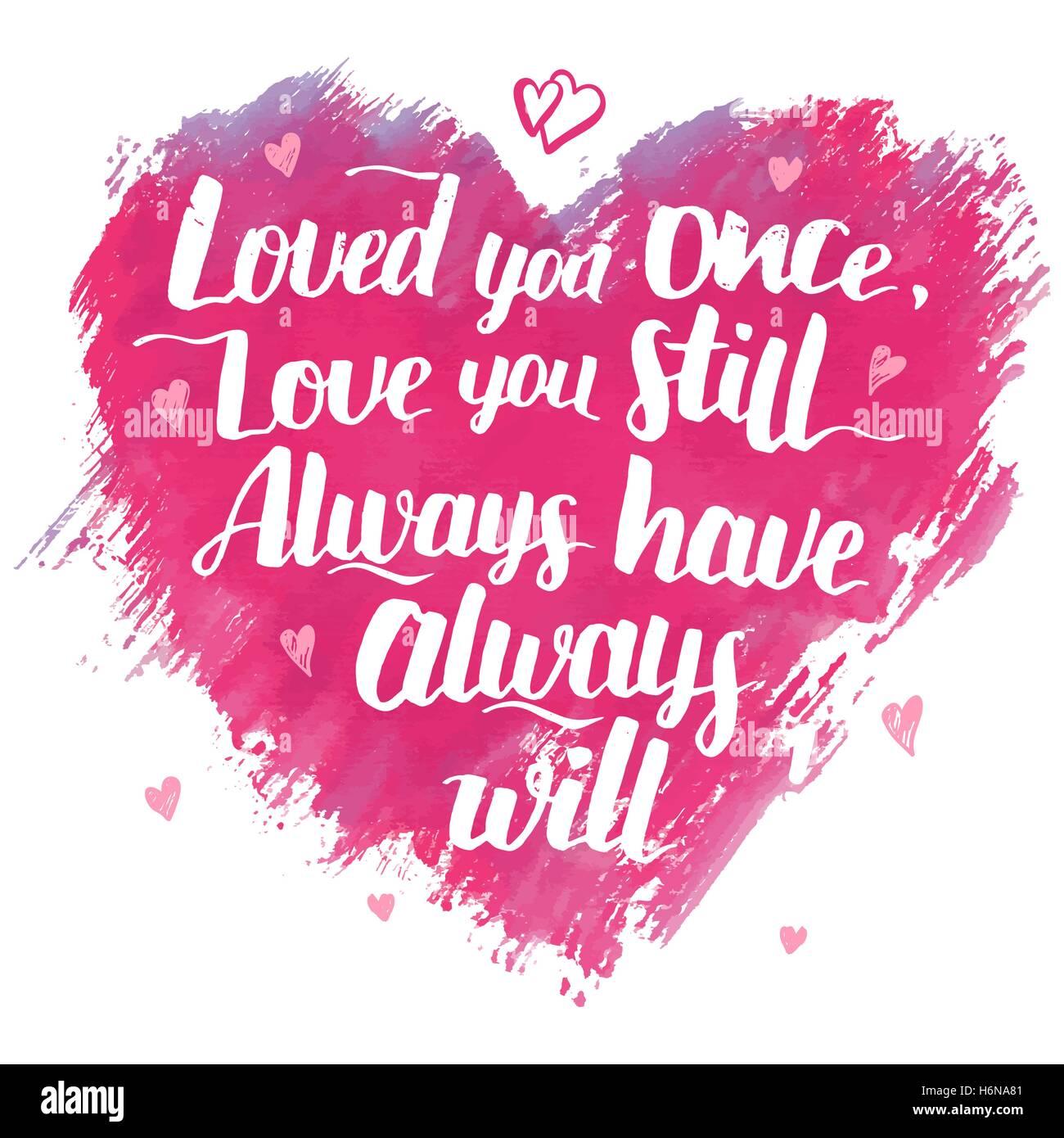Liebe Dich Einmal Liebe Sie Immer Noch Immer Immer