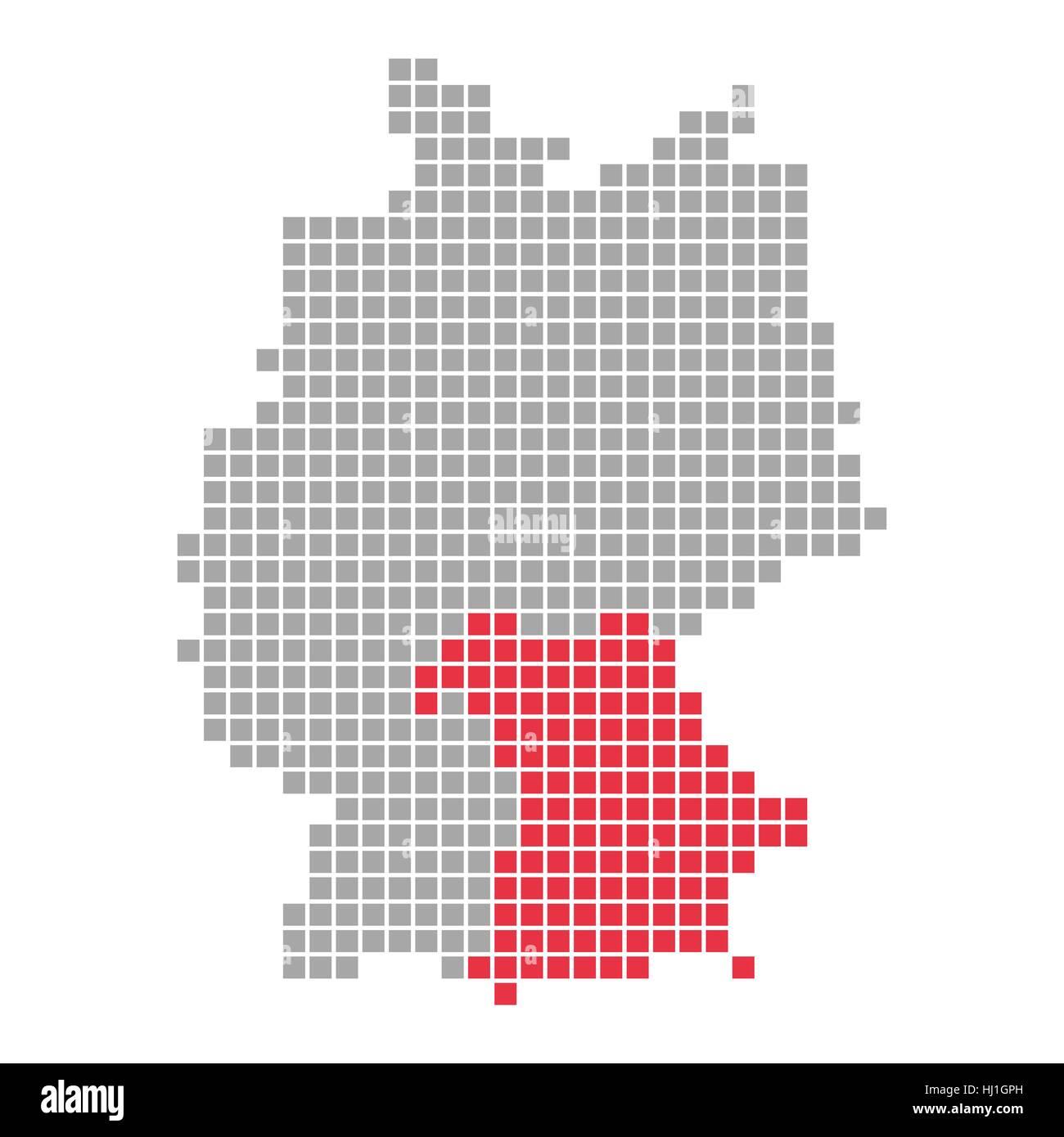 Bayern Karte Bundesland Karte Von Deutschland Isoliert
