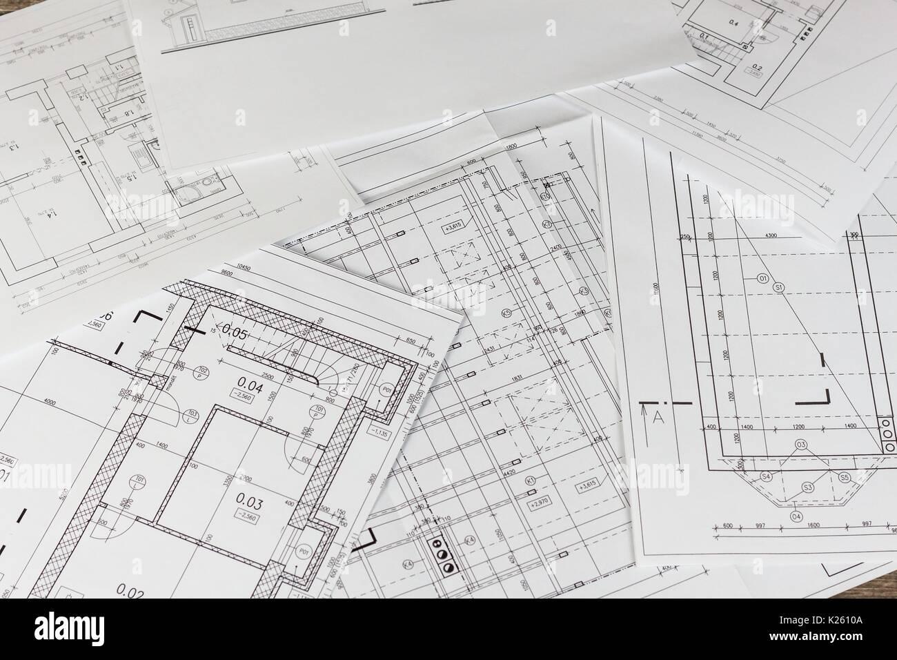 plane der gebaude architektonisches projekt grundriss gestaltete gebaude auf der zeichnung engineering und technische zeichnung