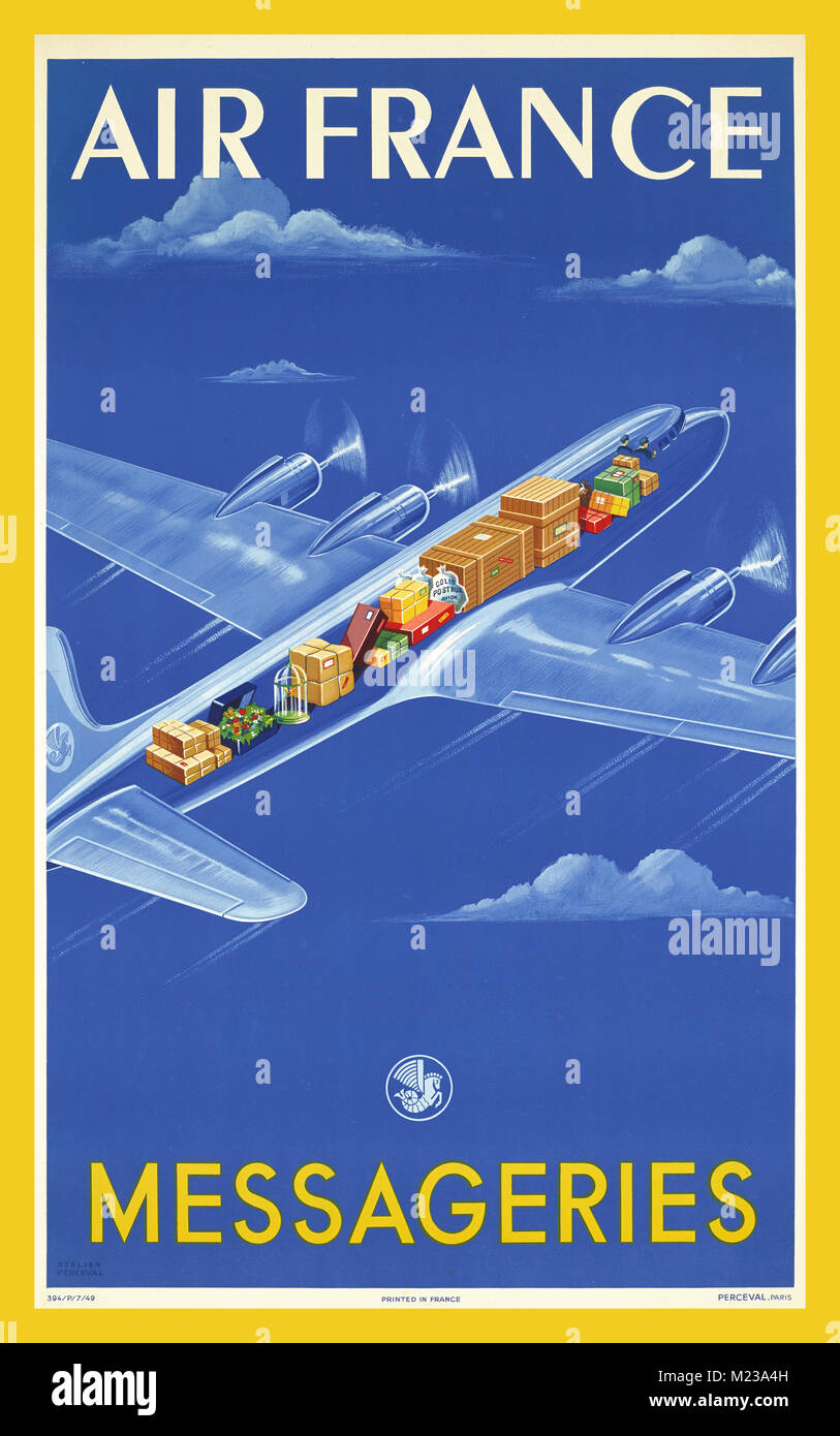 40er vintage poster fluggesellschaft
