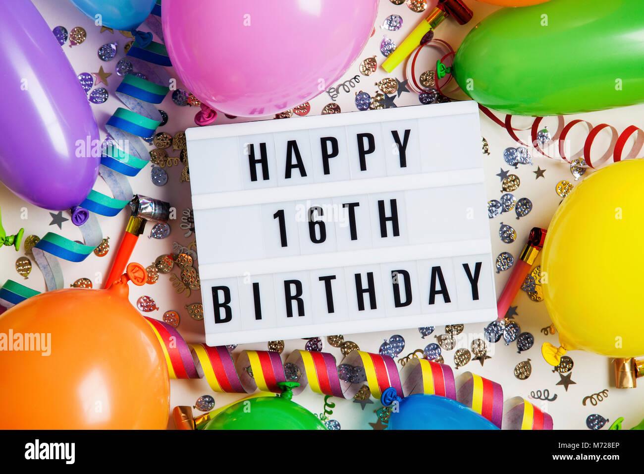 16 Geburtstag Deko Girlande Und Ballons Verkehrsschild Raumdeko Party