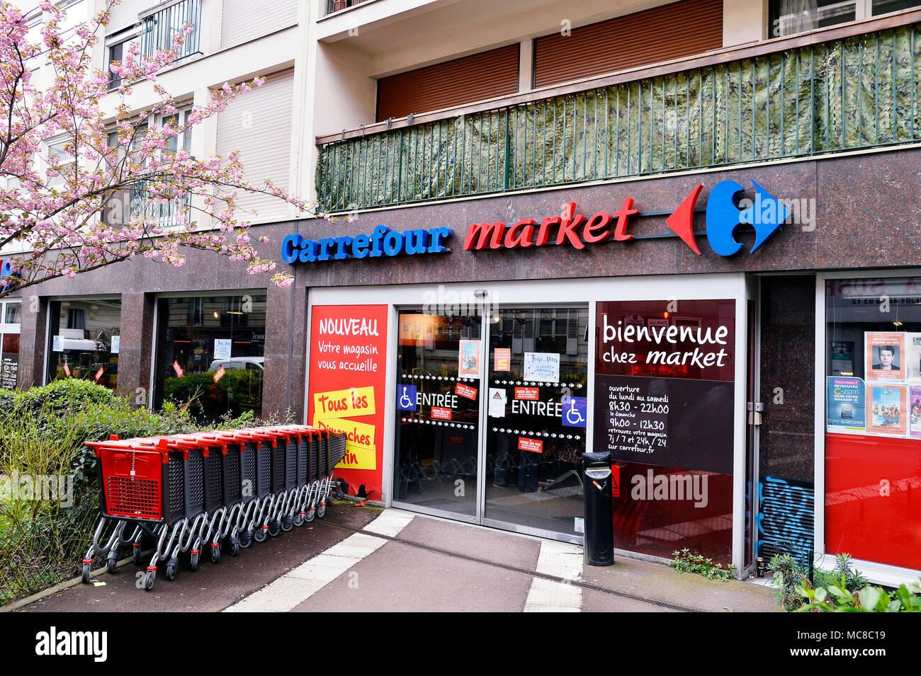 carrefour markt paris frankreich
