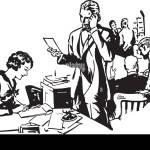 Buro Szene Retro Clipart Illustration Stock Vektorgrafik Alamy