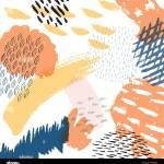 Abstrakte Elemente Hintergrund Malerei Pinselstriche Textur Dekoration Fur Vorlage Hintergrund Deckblatt Design Tapeten Geschenkpapier Stock Vektorgrafik Alamy