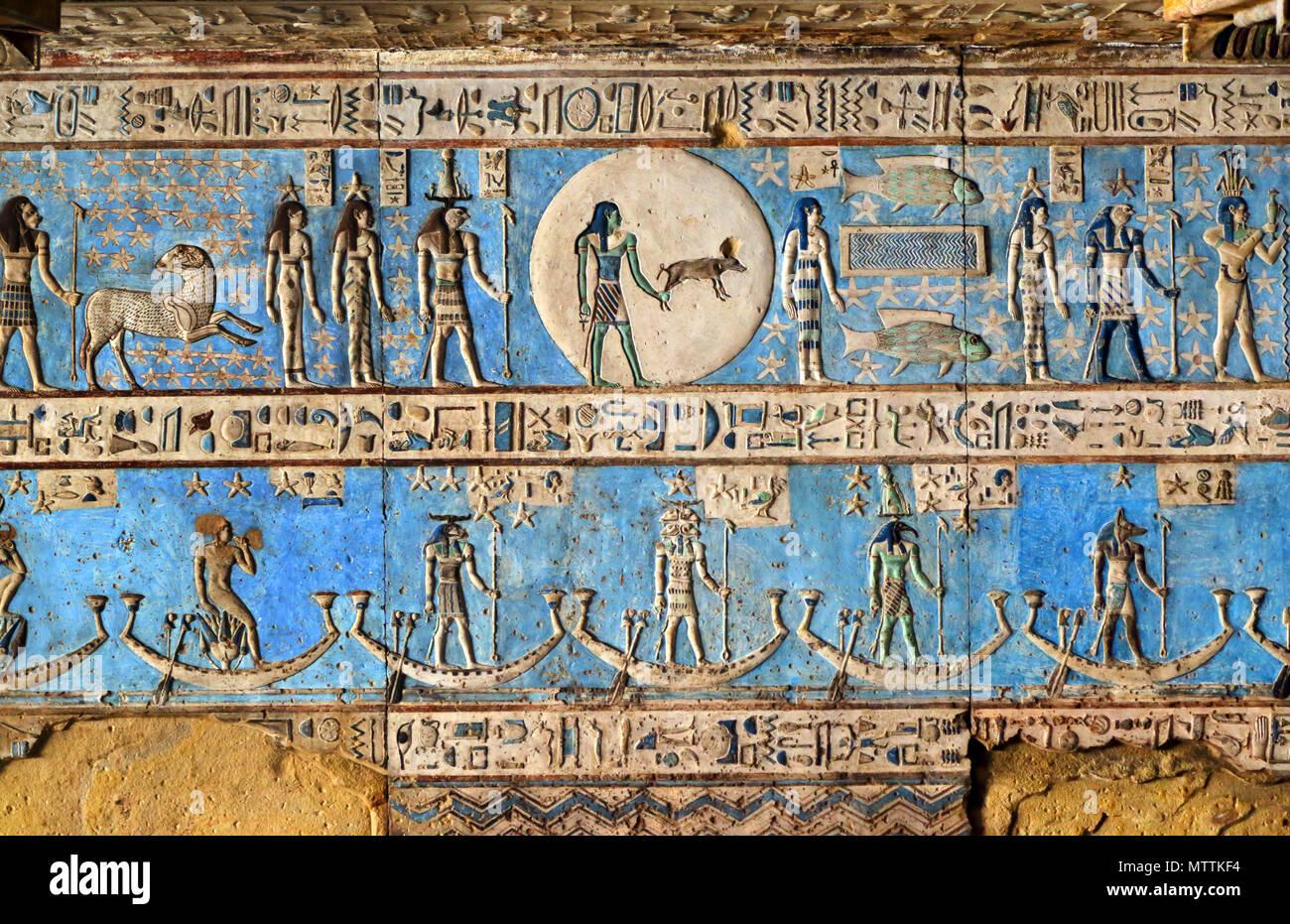 Alte Antike Original Agyptische Malerei Papyrus Pergament
