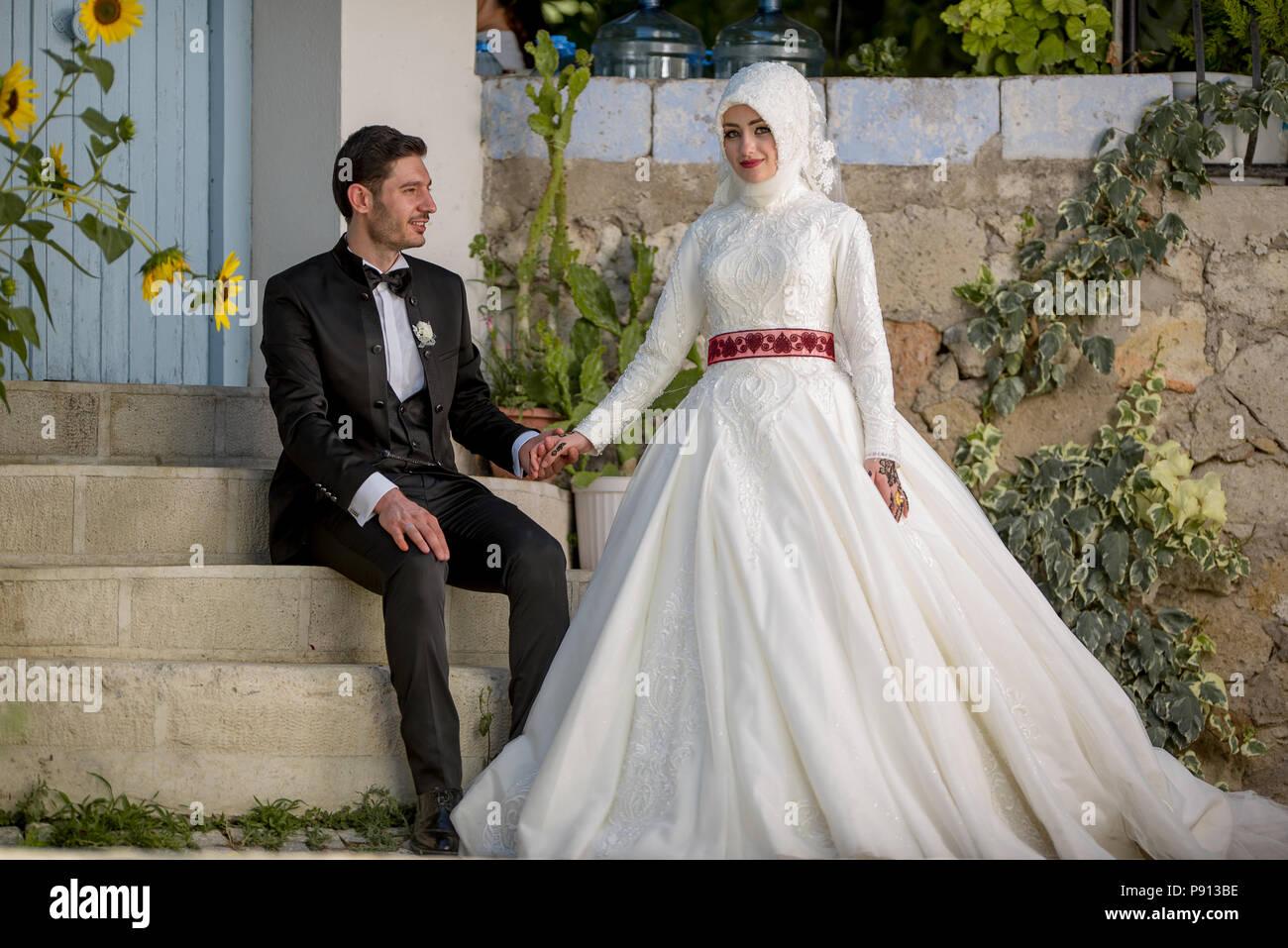Moslembraut Mit Traditioneller Islamischer Islamischer Hochzeit