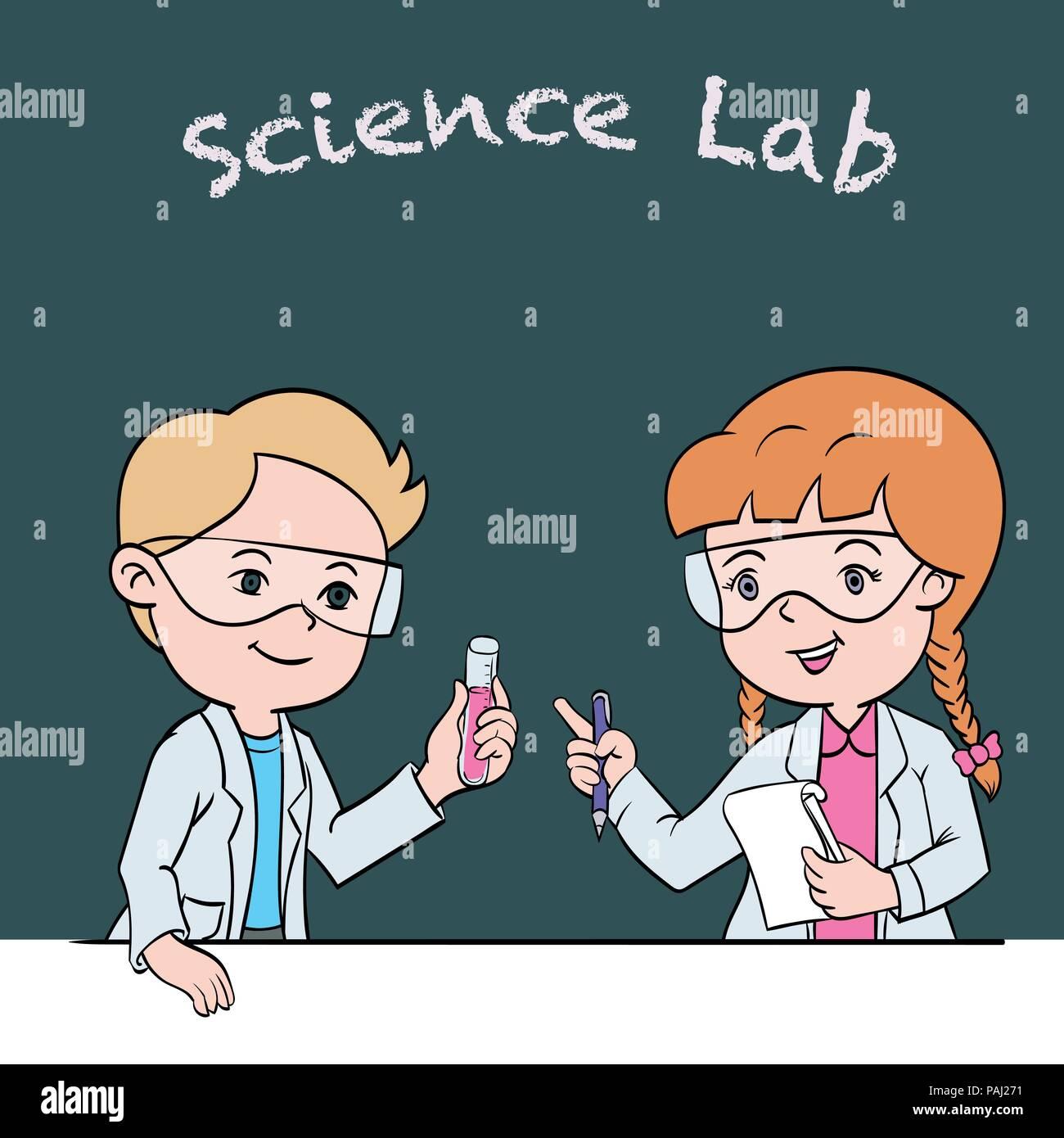 Cartoon Science Experiment Stockfotos Amp Cartoon Science