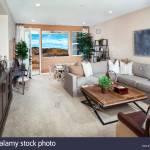 Grau Und Braun Wohnzimmer Stockfotografie Alamy