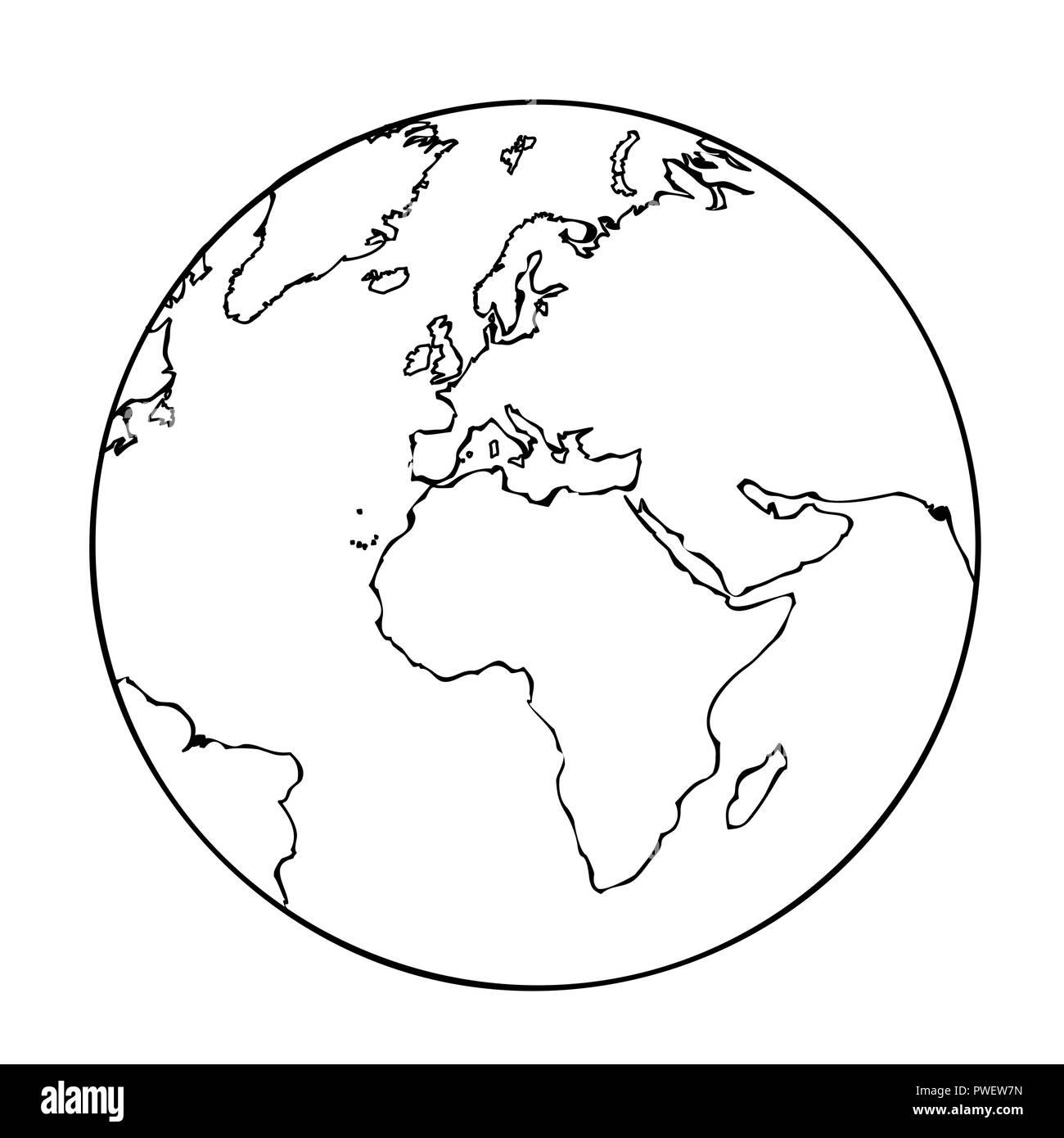 Umriss Der Weltkarte Stockfotos Amp Umriss Der Weltkarte