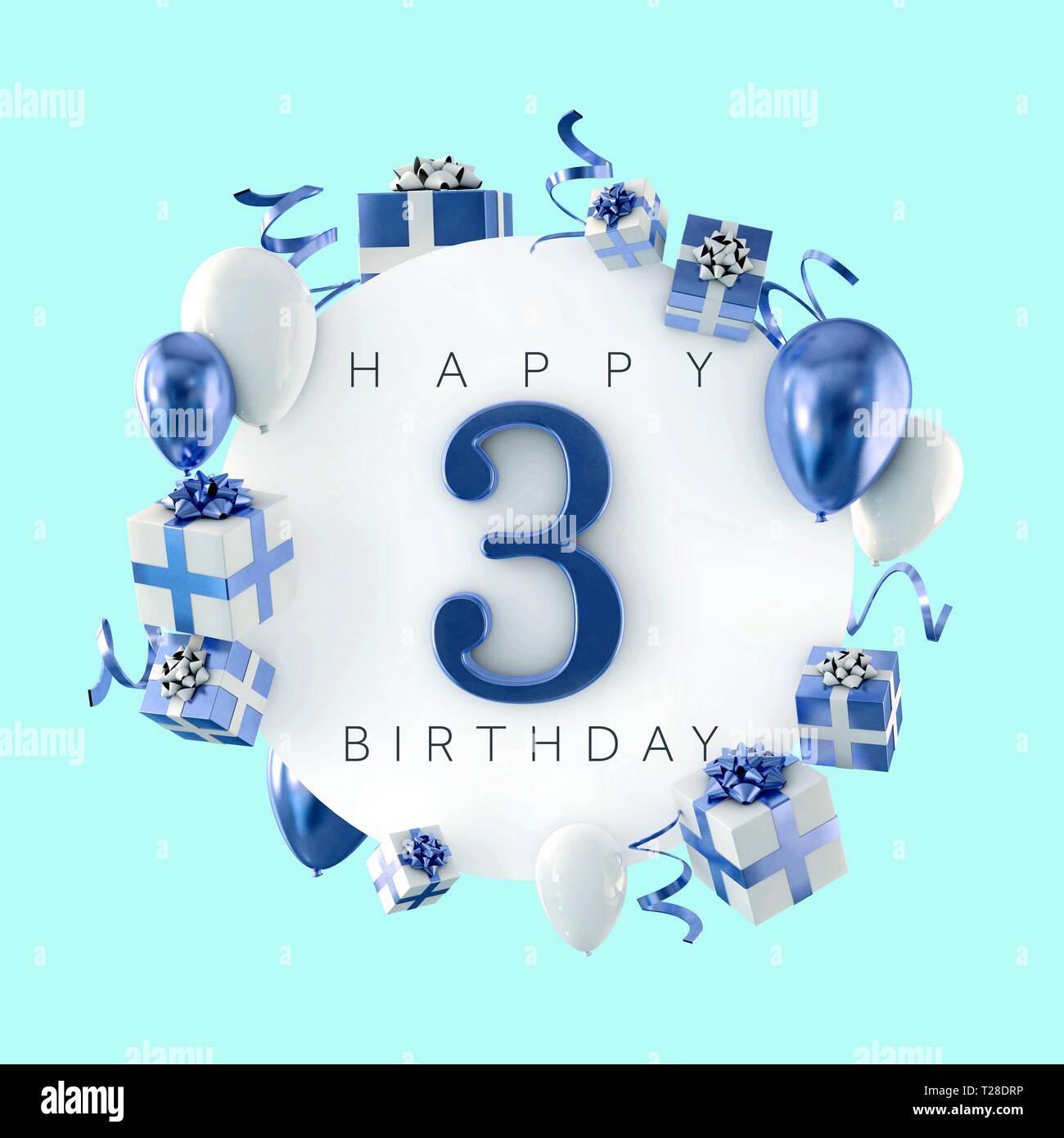 Happy 3rd Birthday Stockfotos Und Bilder Kaufen Alamy